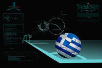 Taking a corner infographic with greece soccer ball