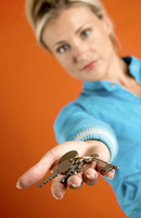 Woman holding a bunch of keys