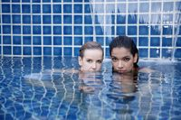 Women in swimming pool