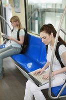 Women sitting in subway train