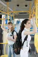 Women travelling in a bus