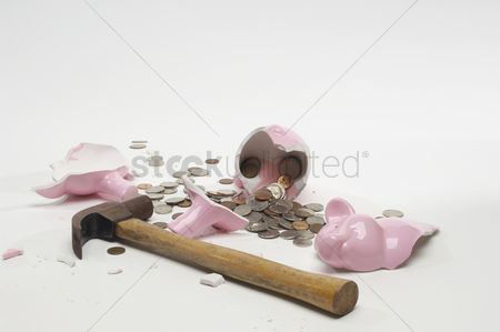 Background : Broken piggy bank