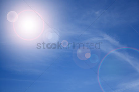 Background : Clouds on a blue sky