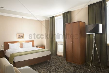Interior : Interior of a hotel bedroom