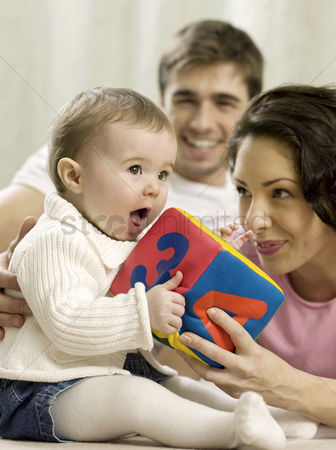 Girl : Parents playing with baby girl