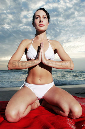 Water : Woman practising yoga