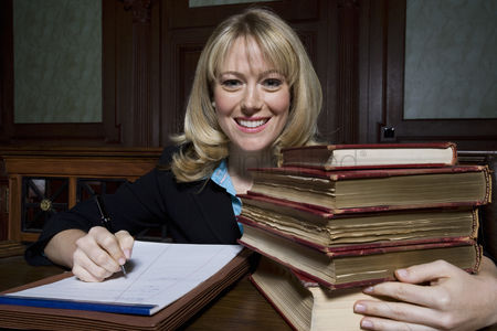 Business : Woman working in court portrait