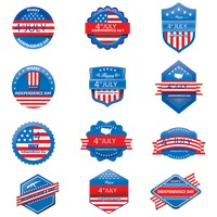 4th of july labels