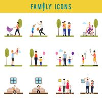 A collection of family icons