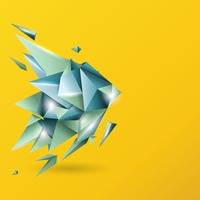 Popular : Abstract faceted background