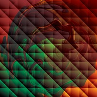 Popular : Abstract polygonal liquid background