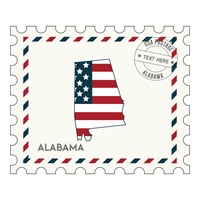 Alabama postage stamp