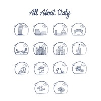 All about italy icons