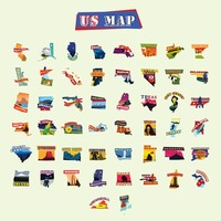 American states maps