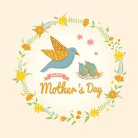 Animal theme mothers day card
