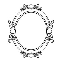Antique frame drawing Gothic Frame Antique Frame Stockunlimited Design Designs Antique Frame Frames Decorative Outline Outlines