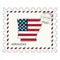 Arkansas postage stamp