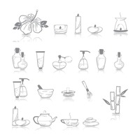 Assorted spa icons
