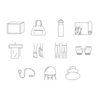 Assorted wellness icons set