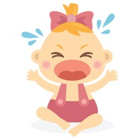 Character Characters Cartoon Cute Adorable Baby Babies ... Baby Girl Crying Animation
