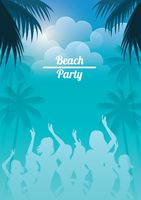 Beach party poster design