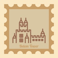 Belem tower postal stamp