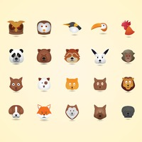 Popular : Birds and animal set