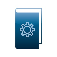 Popular : Book with gear icon