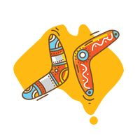 Popular : Boomerang with australia map