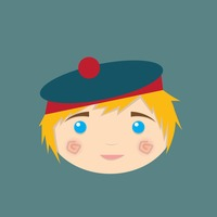 Boy with beret hat