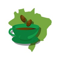 Popular : Brazil map with coffee cup