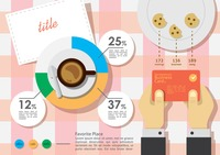 Business infographic using food and drink concept