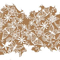 Butterfly papercut background design
