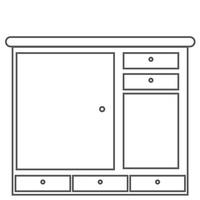 Furniture Furnitures Drawers Interior Wooden Wood Knob Knobs ...
