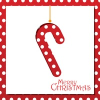Popular : Candy cane christmas card design