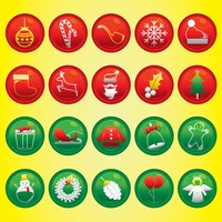 Christmas button set