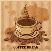 Coffee break design with coffee cup