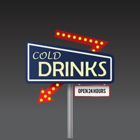 Cold drinks signboard