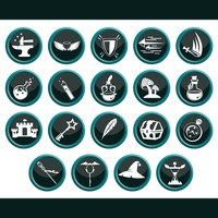 Popular : Collection of assorted fantasy icons