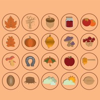 Collection of autumn icons