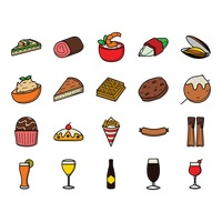 Popular : Collection of belgian food