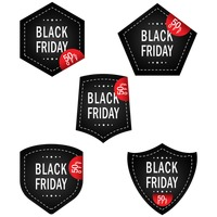 Popular : Collection of black friday sale labels