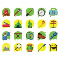Popular : Collection of camping icons