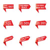 Popular : Collection of cyber monday sale ribbons