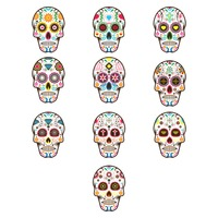 Collection of decorative skulls