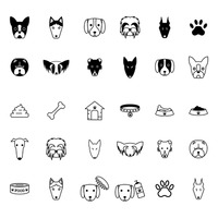 Collection of dog icons