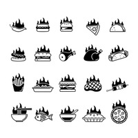 Popular : Collection of food icons