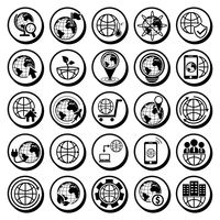 Collection of globe icons