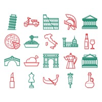 Popular : Collection of italian icons