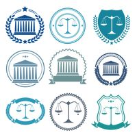Collection of law badge designs